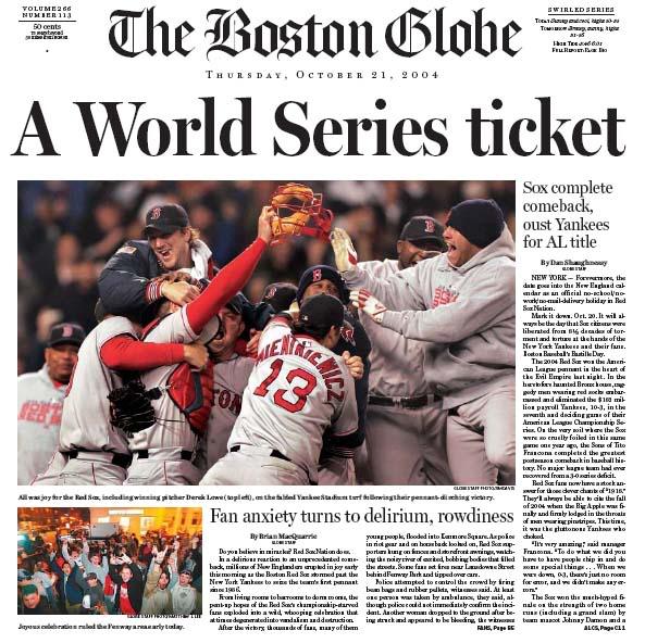Boston globe Oct 2004 ALCS.jpg